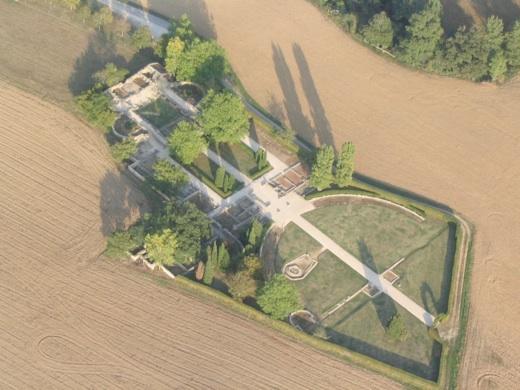 Vue aérienne de la villa gallo-romaine